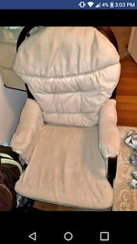 white and gray fabric padded armchair Hagerstown, 21740