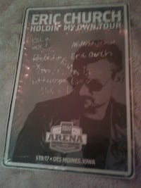 Eric Church Holdin' my Own Tour poster Ankeny, 50023