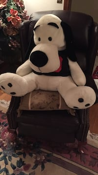 White and black dog plush toy North Andover, 01845