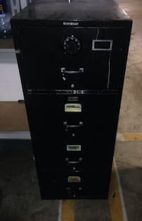 Black metal 2-drawer filing cabinet Alexandria, 22314
