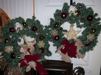 MATCHING CHRISTMAS DOOR WREATHS  North Dumfries, N0B 1E0