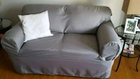 Grey Slipcover loveseat  Waterloo