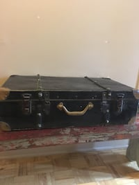 Black leather suit case