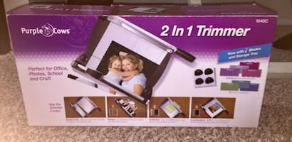 2 in 1 Photo Trimmer - Purple Cows