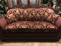 red and white floral fabric sofa Bakersfield, 93304