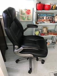 Black leather office chair Kensington, 20895
