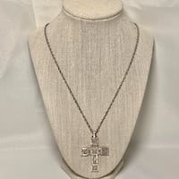 James Avery 50th Anniversary Retired Sterling Silver Cross With Chain Chantilly, 20151