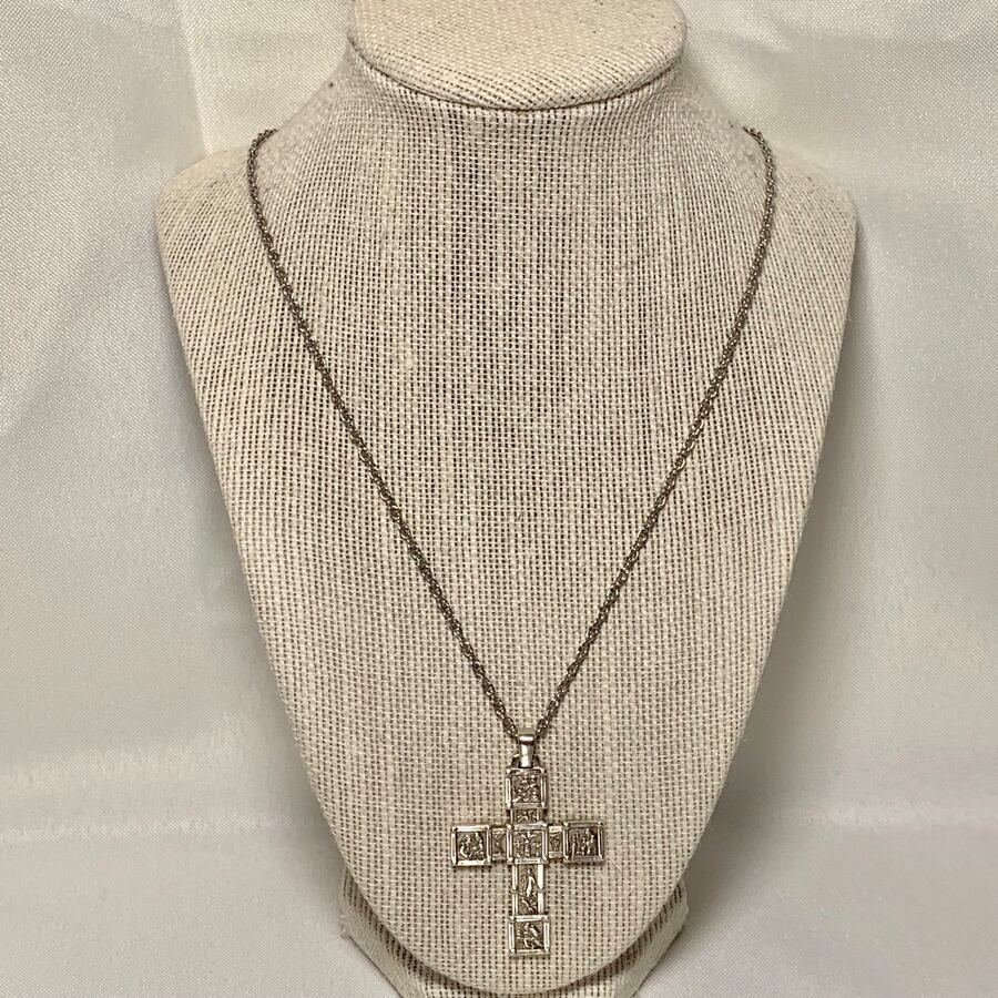 James Avery 50th Anniversary Retired Sterling Silver Cross With Chain
