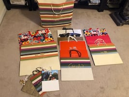 LOT of (12) COACH Retail Shopping Gift Paper Bags Authentic.