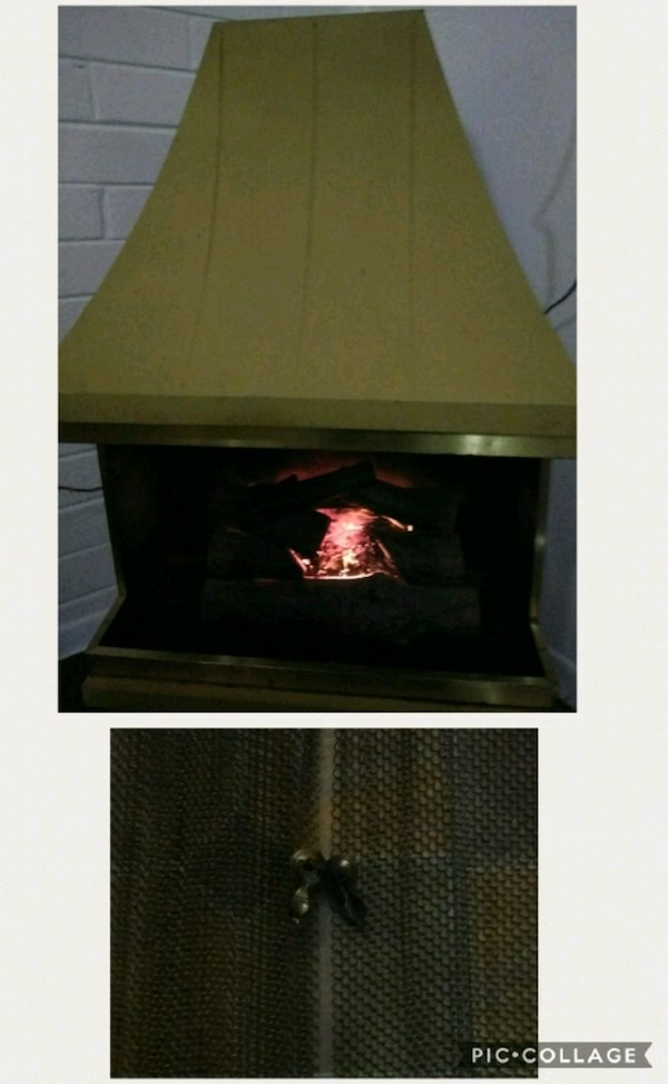 Gold Electric NO BURN Fireplace