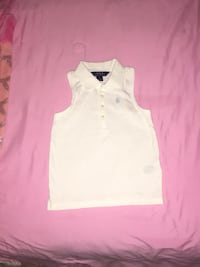 white v-neck sleeveless top 56 km