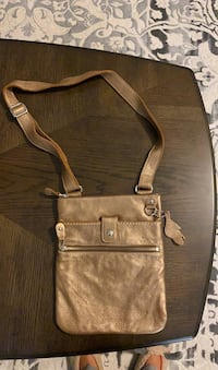 Barely Used Mint Condition Gold ROOTS Leather Crossbody Purse Toronto, M8V 0E5