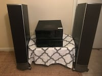 black and gray home theater system 19 mi