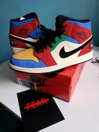 "Jordan 1 sz 11 ""Fearless"" ""Blue The Great"" Sold Out Bowie, 20716"