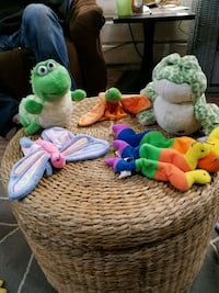 two green and white frog plush toys Galena, 66739