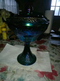 Indiana vintage blue carnival glass Catonsville