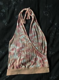 Orange tie dyed halter top Tustin, 92780