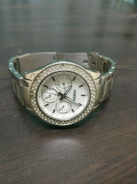 round silver chronograph watch with silver link bracelet Mumbai, 400059