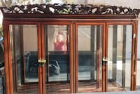 brown wooden framed glass display cabinet Bakersfield, 93308
