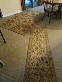 brown white and pink floral runner rug Fort Mill, 29708
