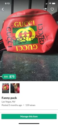 Gucci Fanny pack (red)