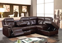 Reclining sectional with storage ottoman $1199 $50 down no credit check financing  Massapequa, 11758