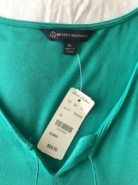 Reduced! Brand new XL green brooks brothers top