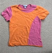 Laundry by Shelli Segal Pink & Orange Top Blouse Women's Medium
