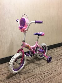 "Toddler 12"" Disney Princess Huffy Bike with jewel case, removable training wheels, adjustable height on handle and seat.  Richmond Hill, L4B"
