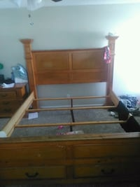 King sized bed frame without mattress Whittier, 90606