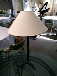 black table lamp with white shade South Bend, 46614