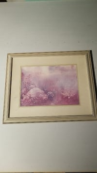 Forest Dawn art work with frame