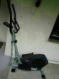 grey and black elliptical trainer