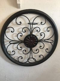 Black wall mount 4 candle holder