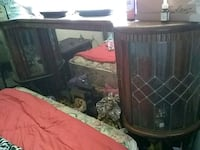 brown wooden framed glass display cabinet Fort Wayne, 46825