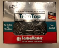 Trim Top 2 1/2' Stainless Steel Coated Trim Screws box of 350 London