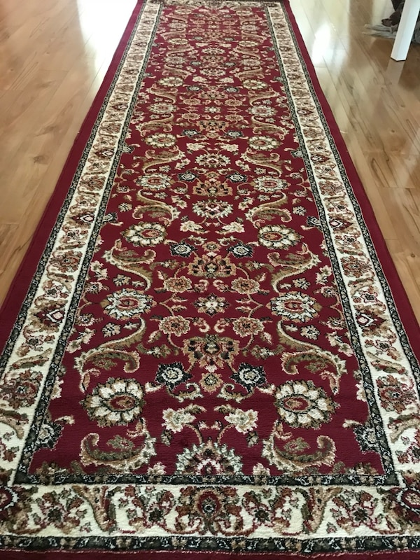 New carpet runner size 3x10 nice red rug runners Persian style hallway or entryway carpets