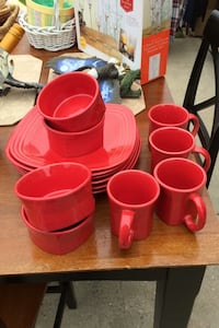 Nice Red dish set by Fiesta