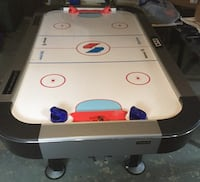 White and black air hockey table and fossball table Edmonton, T5E