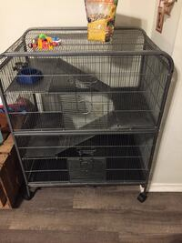 Small animal cage with supplies 837 mi