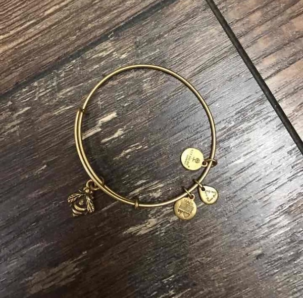 Alex and Ani bumble bee bracelet