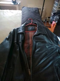 winter leather jacketBlack heavy leather jacket with  winter lining