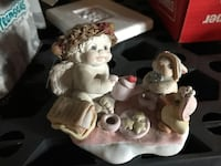 baby with wings with two animal ceramic figurines Bangor, 48706