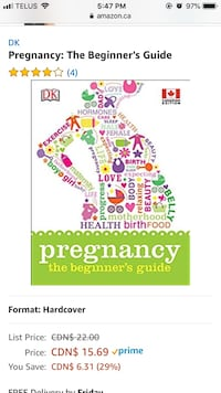 Pregnancy Book (Canadian) brand new in box Essa, L0M