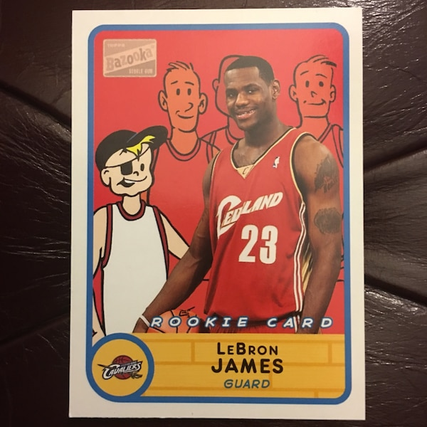 Lebron James Rookie Cardrare Bazooka