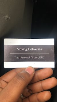 Delivery services & Moving  ,TrashRemoval