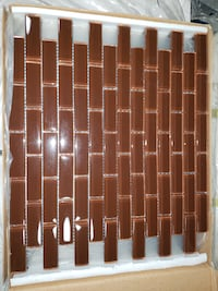 "New! TIL338 12"" x 12"" M/G Cocoa Glass Mosaic Tile $1.99 on clearance for only $1.99 SqFt!  Warren"