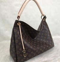 women's brown leather Louis Vuitton monogram tote bag Edmonton, T6K 0J9