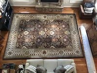 Brown and white floral area rug Springfield, 22150