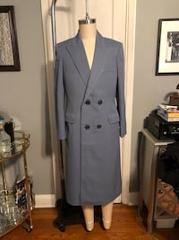 Mens vintage tailored full length overcoat paid $260 Blue size Large. In great condition! Like new perfect for Spring fashion Washington, 20002